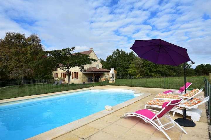 Spacious Holiday Home with Private Swimming Pool in Uzech