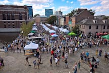Fells Point Fun Festival October 2017.   This festival started in 1966 to raise money against a proposal to run I-95 through Fells Point. This neighborhood is also a popular spot to spend Halloween.