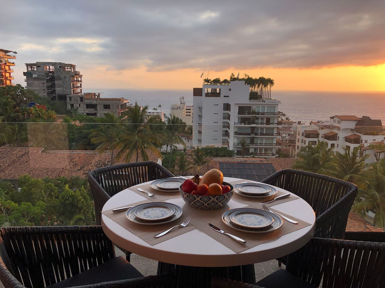 Welcome to PeoVallarta! Sit and relax on our spacious patio and watch the sunset with ocean views on Banderas Bay and the Zona Romantica in Puerto Vallarta.