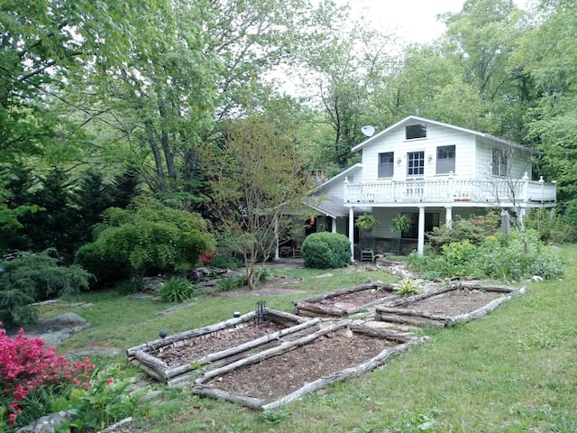 Quiet cabin nestled b/t Asheville and Lake Lure - Gerton - House