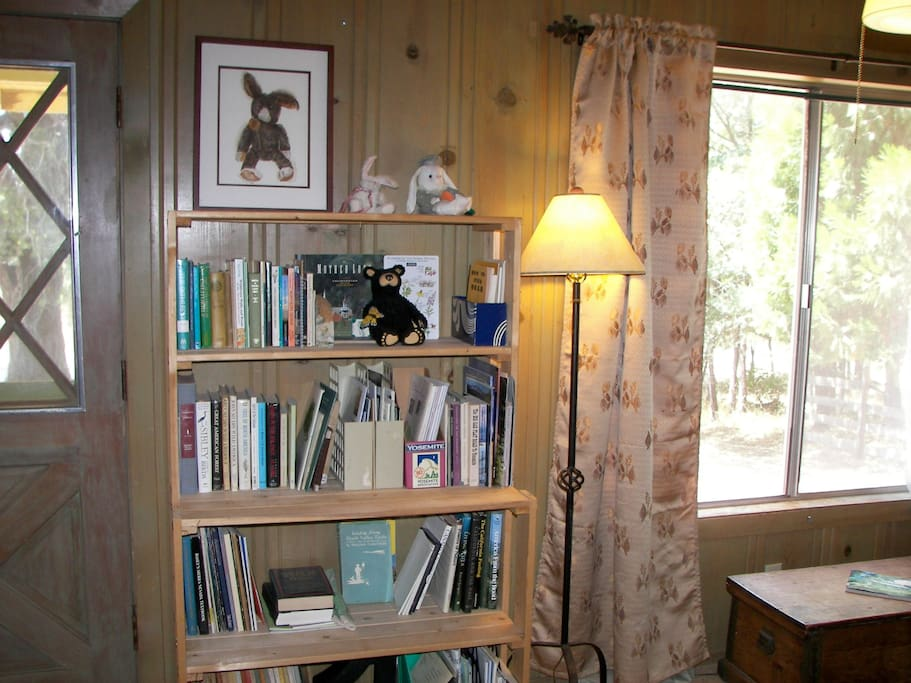 One of 3 front room bookcases. Gold Country & nature books.