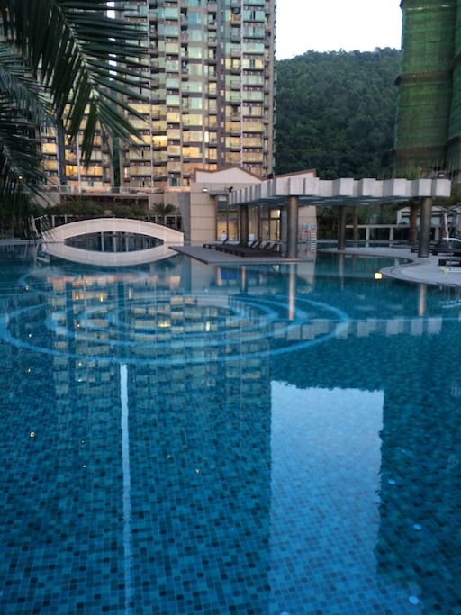 Outdoor and Indoor Swimming Pool area