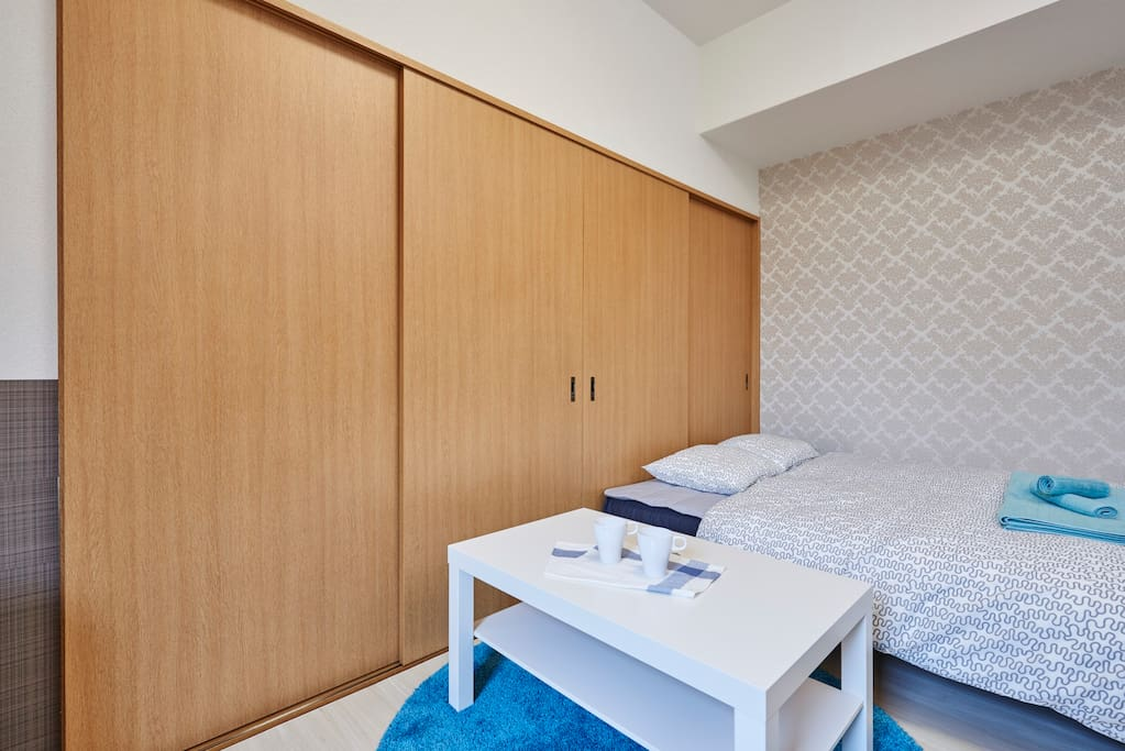 Separated bedroom and living room