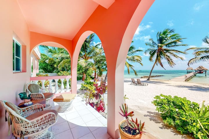 Romantic beachfront getaway w/ ocean views, shared pool, free WiFi & partial AC!