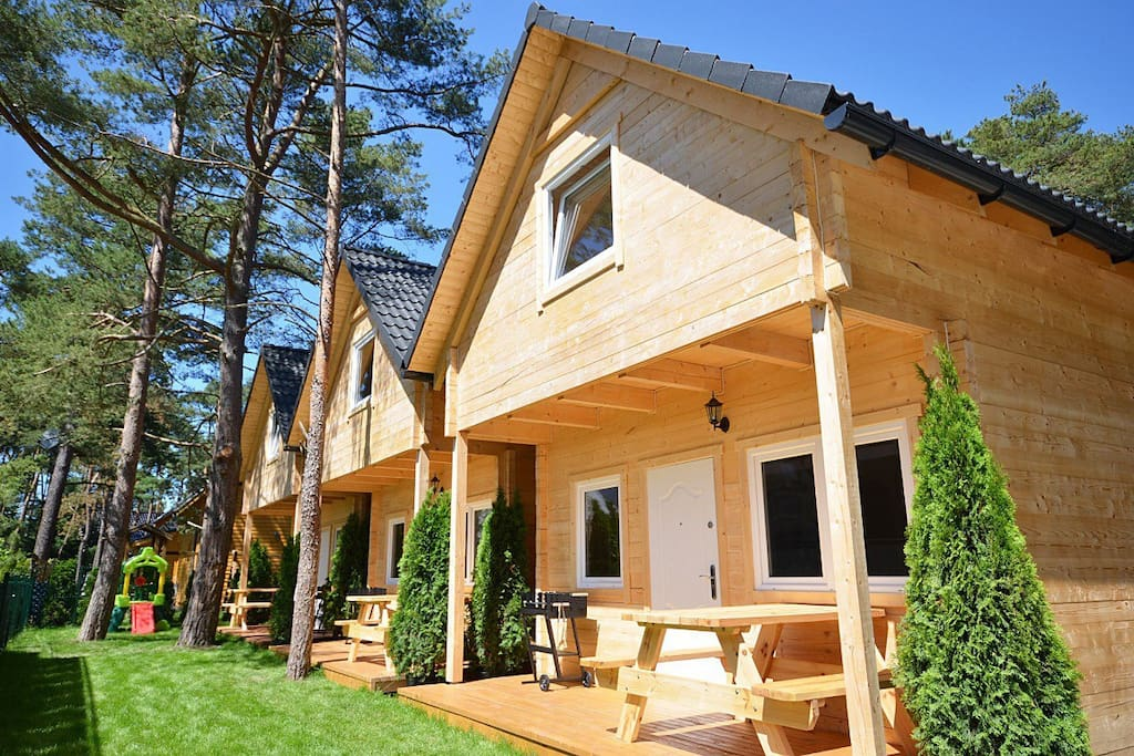 New Log Cabin Houses For Rent In Pobierowo Poland
