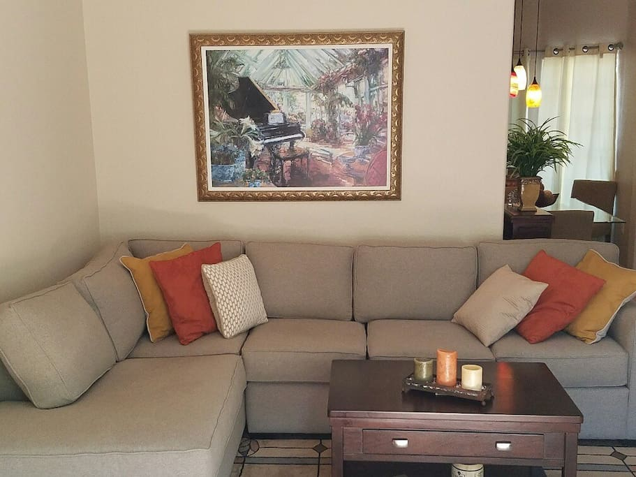 Living Room with plenty of comfortable seating
