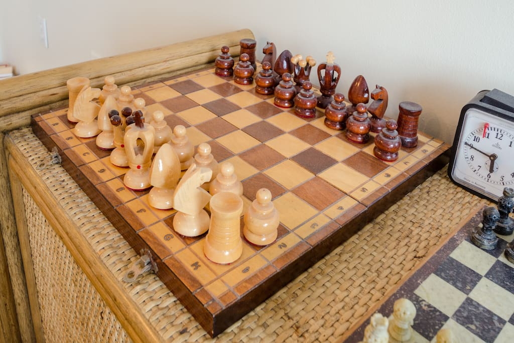 You may see a couple chess boards.