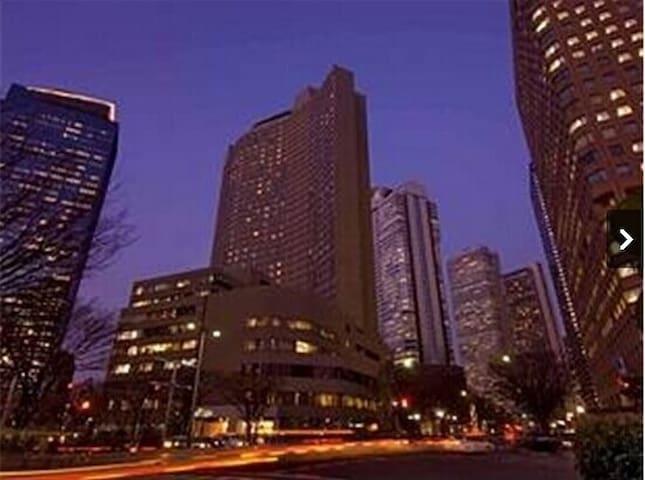 东京新宿希尔顿酒店,大床房,30平米 - Shinjuku-ku - Bed & Breakfast