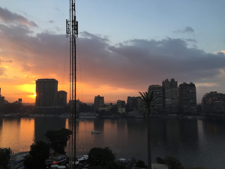Heart of Cairo with Nile River View Apartment