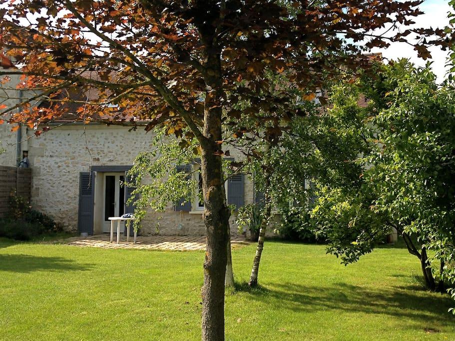 Côté jardin, terrasse