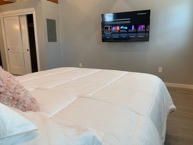 Netflix from bed or anywhere in loft.