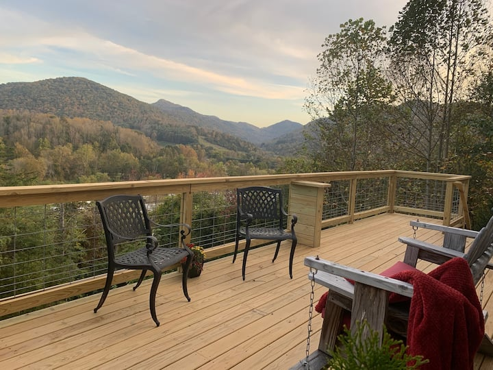 Inspirational view from the deck! Barnardsville NC