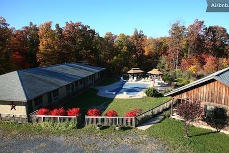 Bed&Breakfast Penmerryl Farm Cabin B - グリーンビル - キャビン