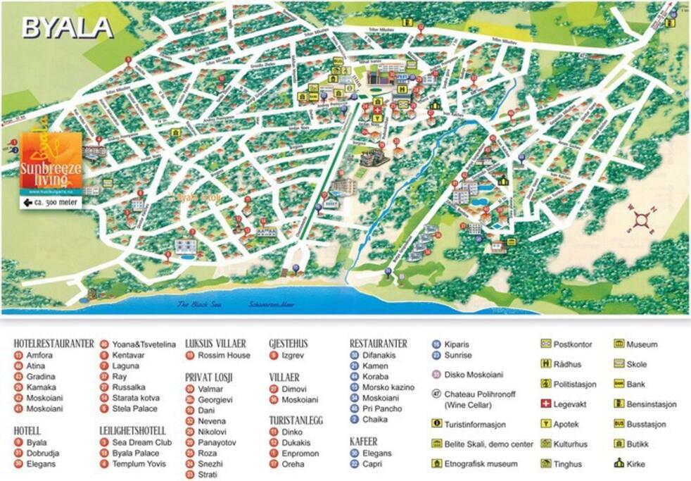Карта г. Бялы