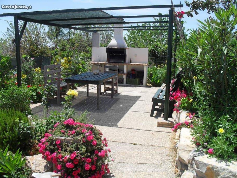shared barbecue area