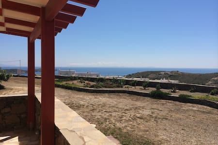 Scenic sea view aegean home - Syros - 独立屋