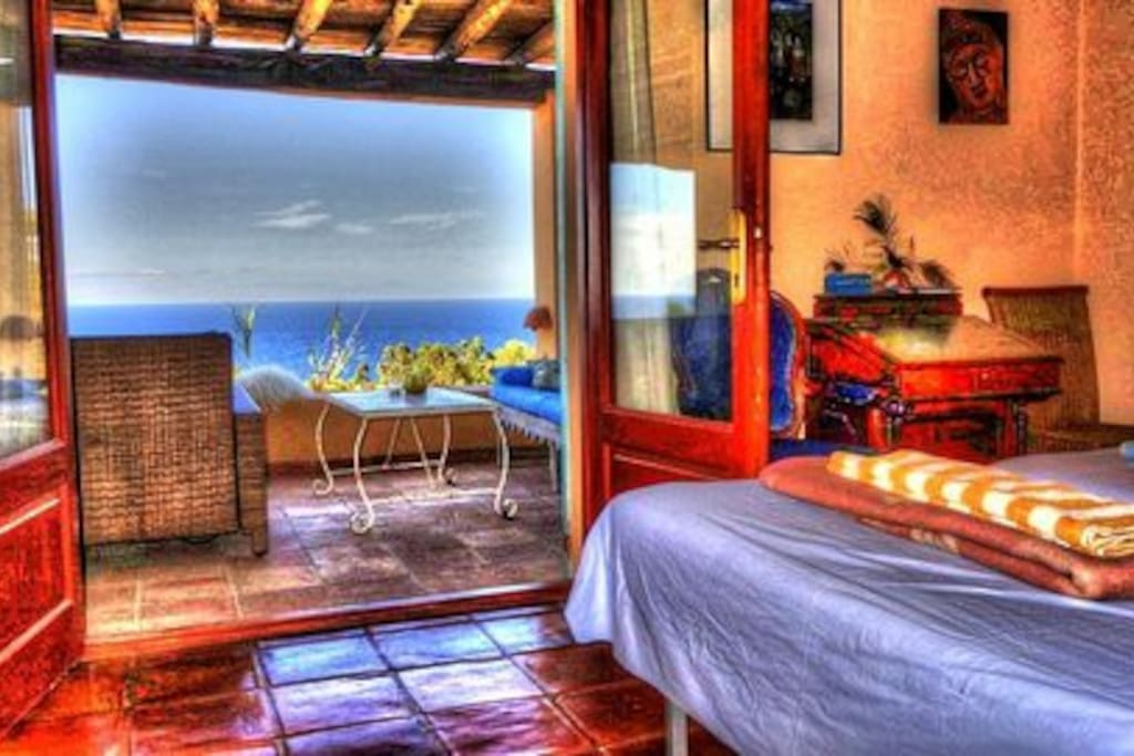 The Master Bedroom with direct seaview & view on Es Vedra