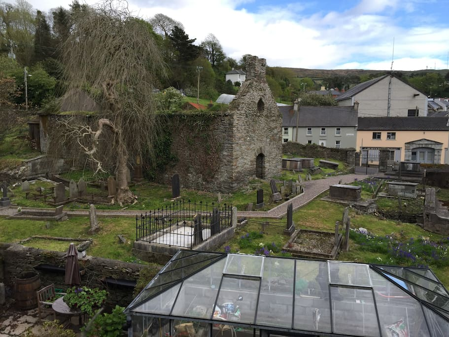 View of Ancient graveyard from your bedroom window