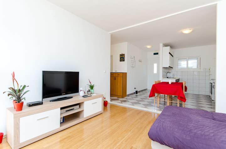 Comfortable apartment with balcony and parking