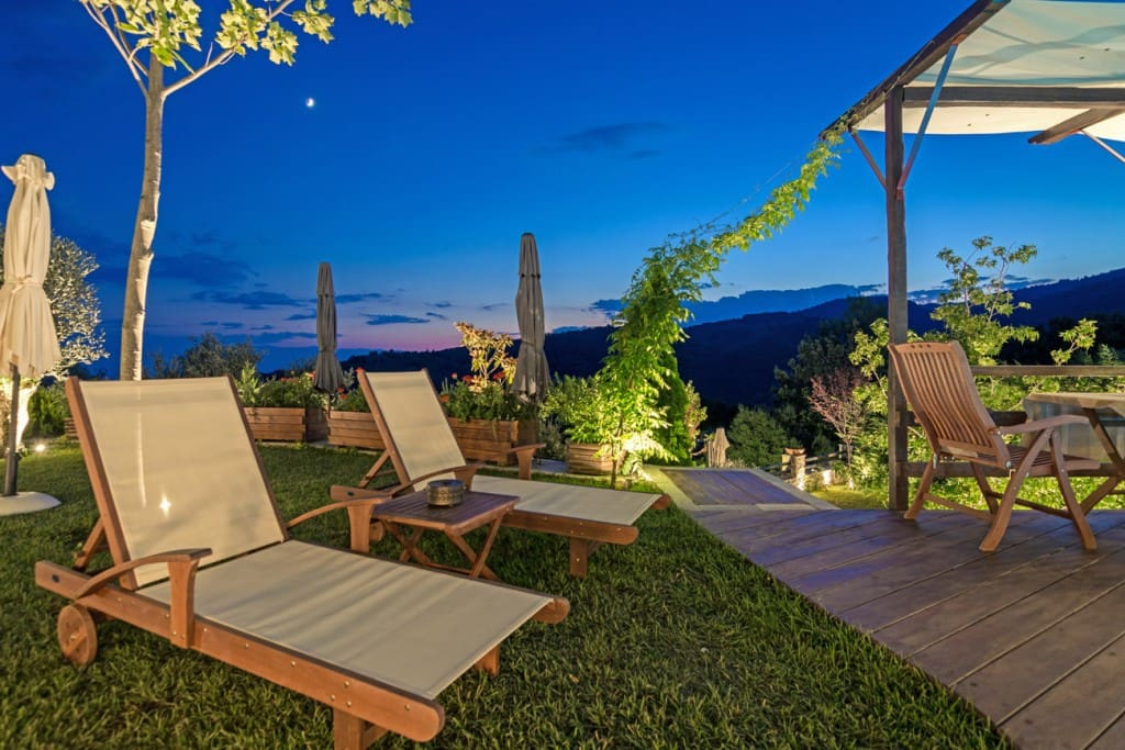 Our visitors can benefit from the sunbeds in order to sunbathe at daytime or enjoy the moon at night.