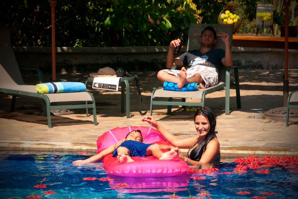 Relax at the pool with your family and friends