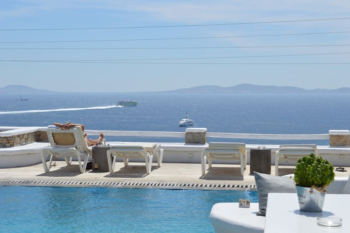 Superior sea view triple studio -1 - Tourlos, Mikonos - Appartement