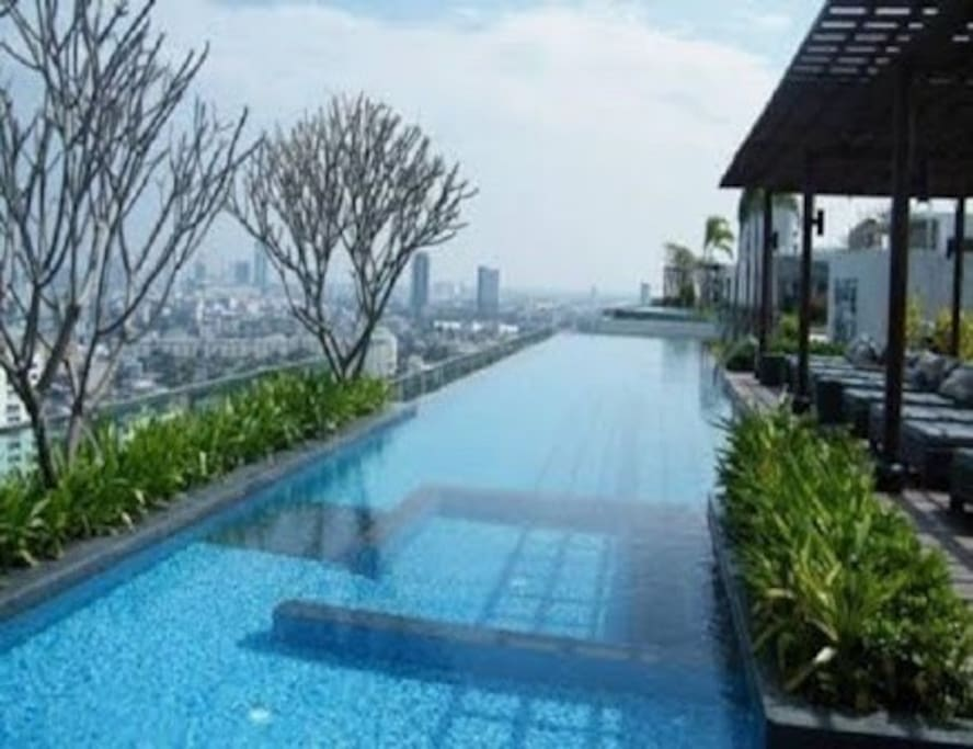 2 Long Swimming pool at rooftop.
