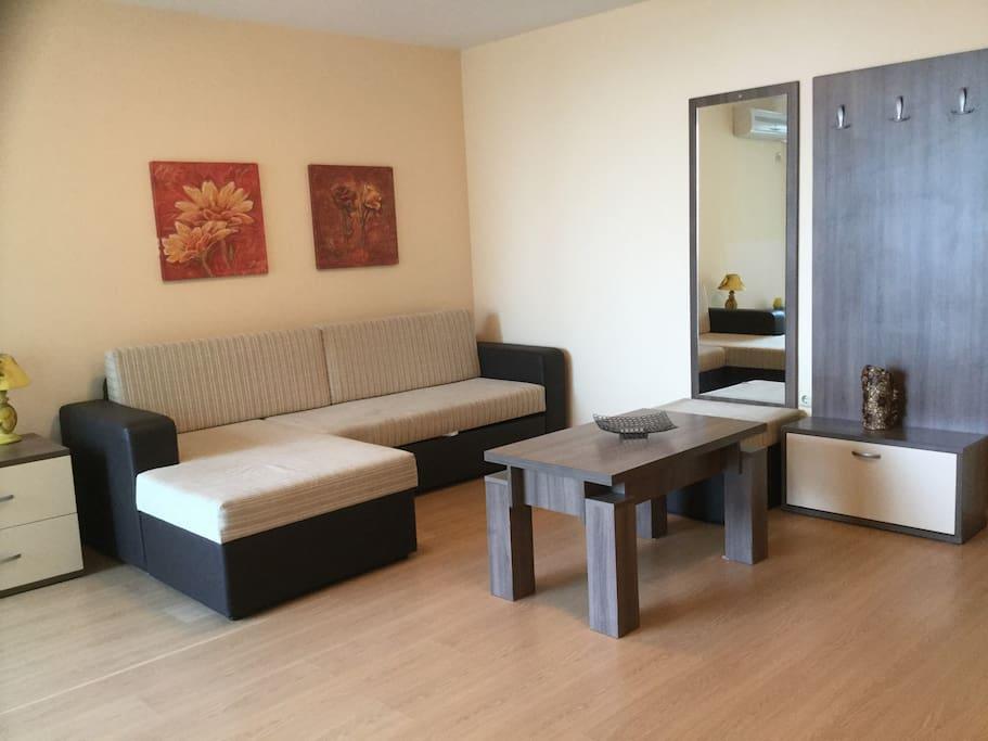 Livingroom Beach apartments Primorsko