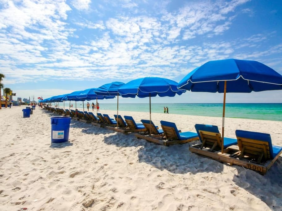 1 set of beach chairs complimentary with your stay
