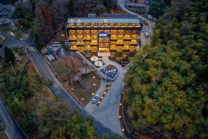 天池嶺尚·安吉江南天池度假酒店--顶层LOFT星空家庭套房/毗邻江南天池(温泉、滑雪)、藏龙百瀑