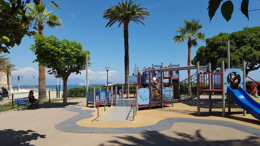 Playground 30 m from the building