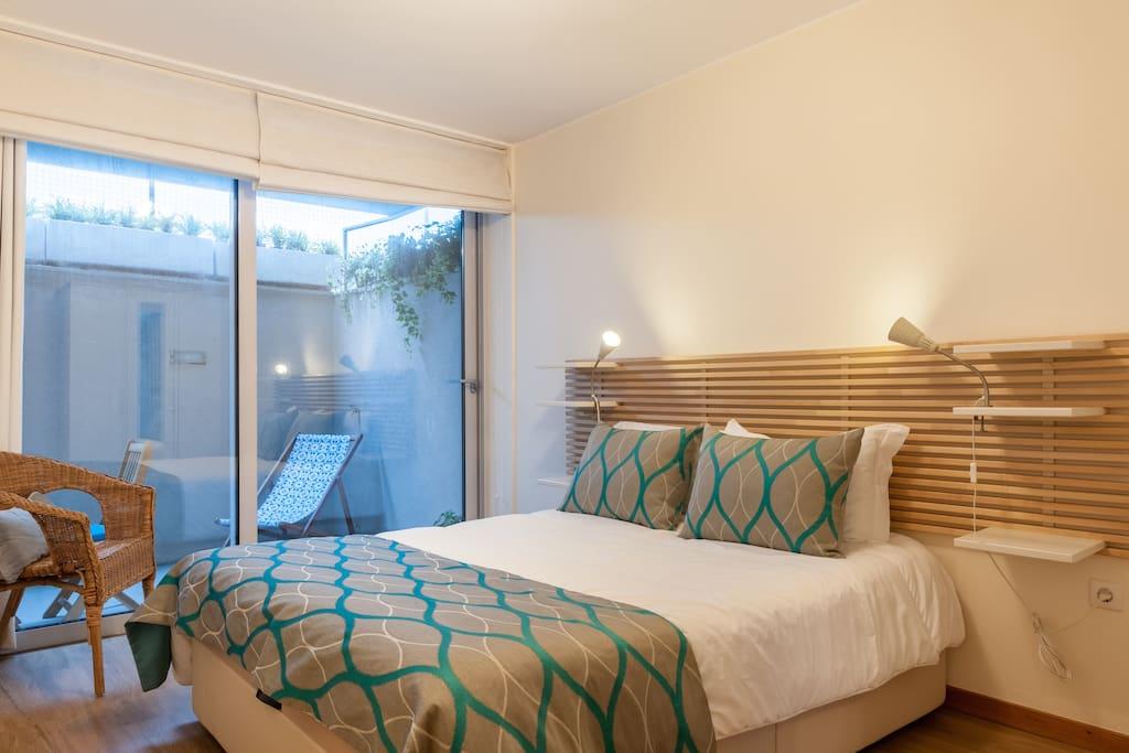 quarto com cama larga, 200*150
