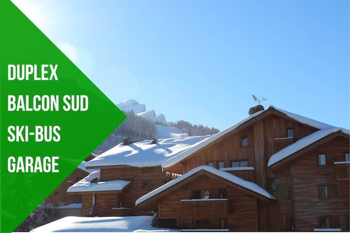 Duplex Green Apple 🍏 Carroz WIFI Garage Balcon Sud