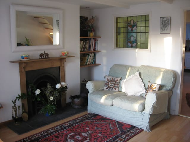 traditional lounge (now with woodburner)