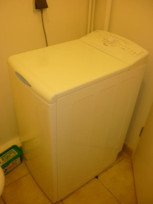 La machine à laver est neuve.