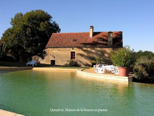 Queytival, maison de la Source,27ha