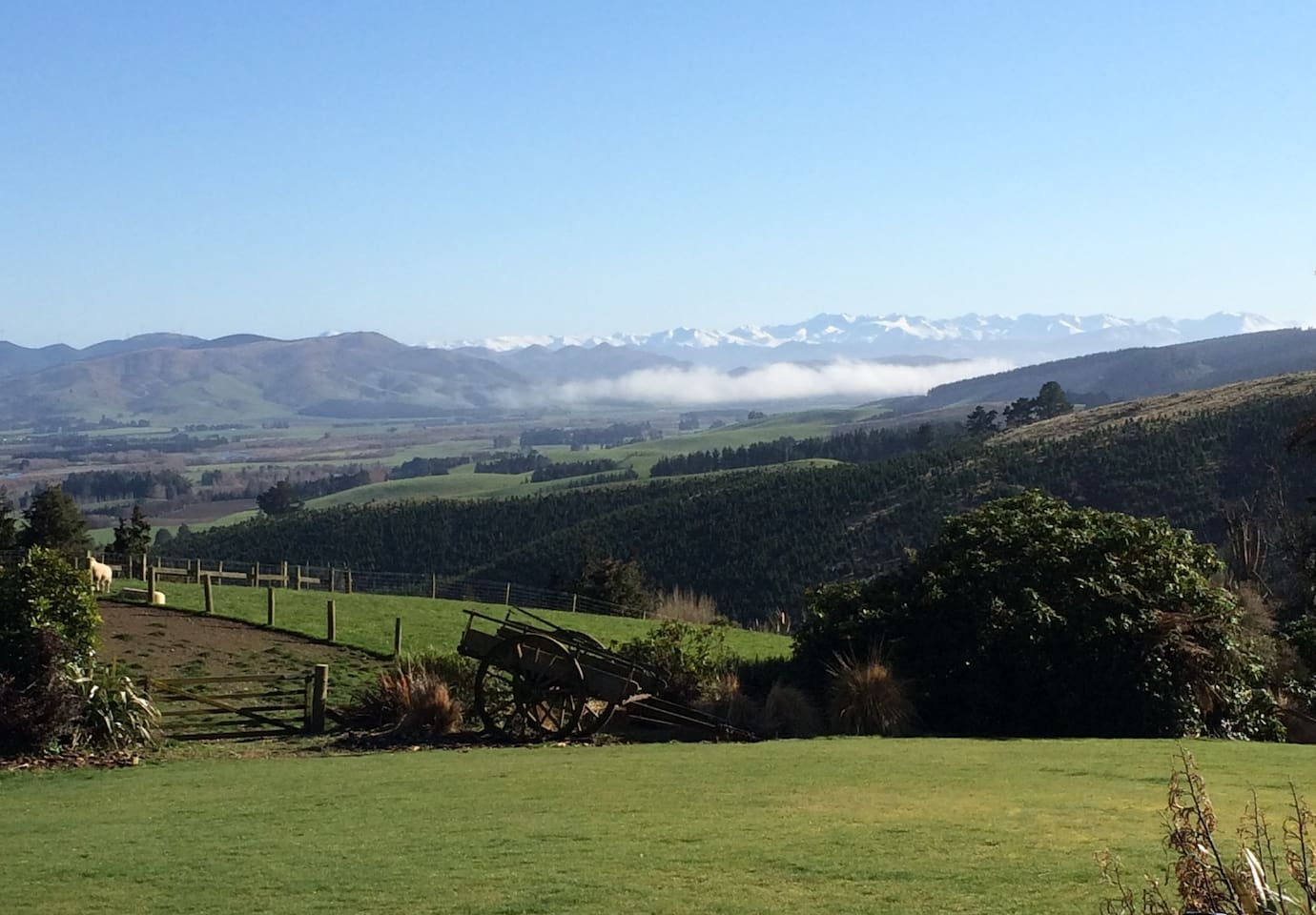 Stunning Southland countryside viewed from our living room