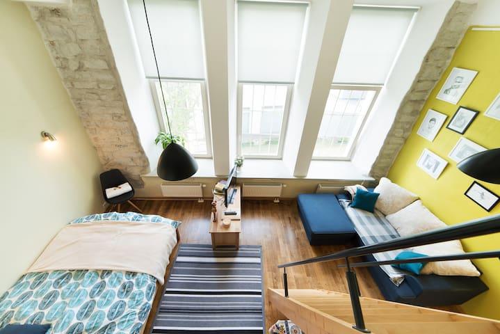High ceiling apt. in old furniture factory. Sunny! - Tallinn