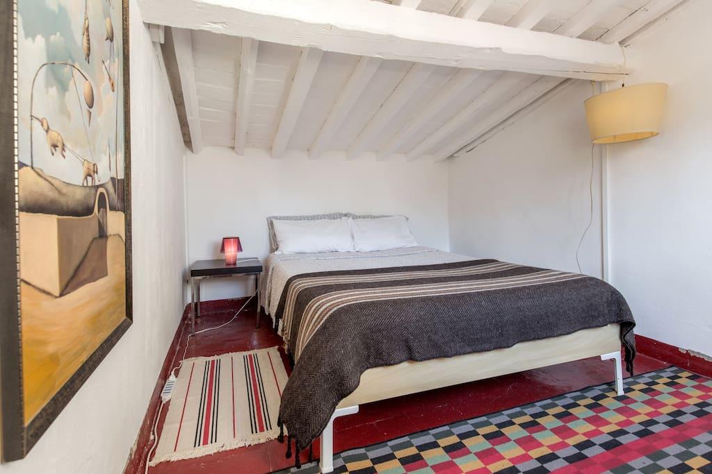 la stanza è piccola ma molto accogliente, soleggiata e tranquilla
