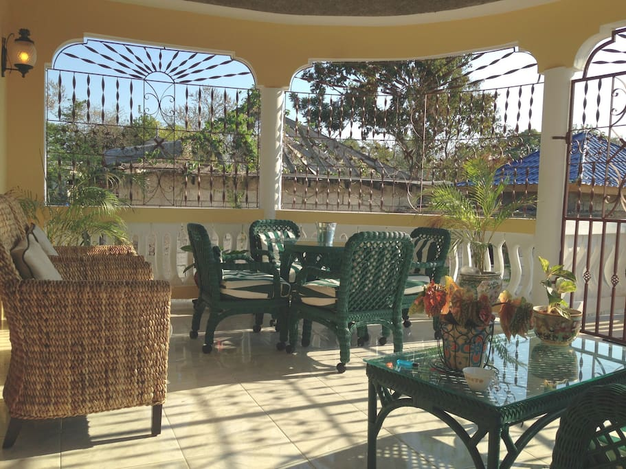 Front veranda perfect for breakfast and dinner