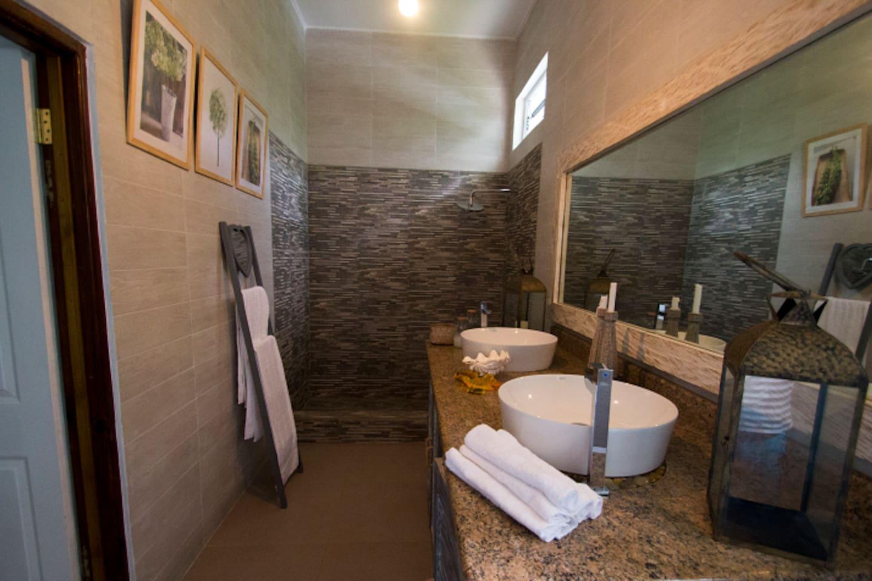 spacious beautiful bathroom
