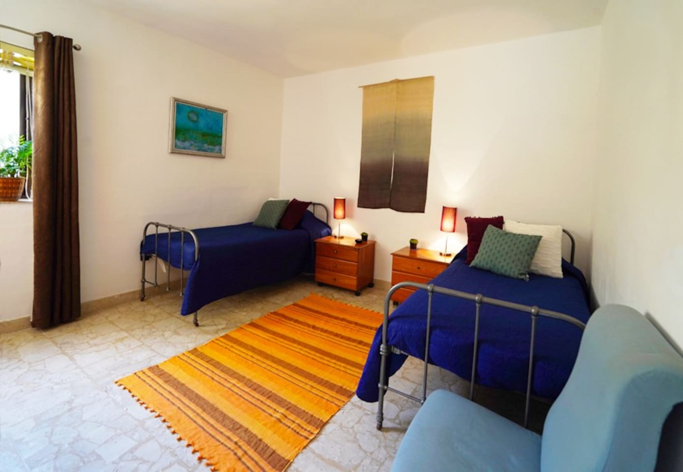 Bright, spacious and comfortable twin room.