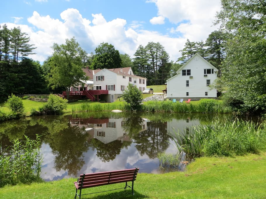 Located in a quiet residential area, with a pond stocked with trout our guests can catch and release for free