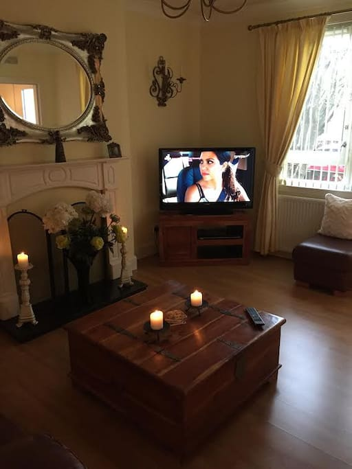 Comfortable lounge with Freeview TV