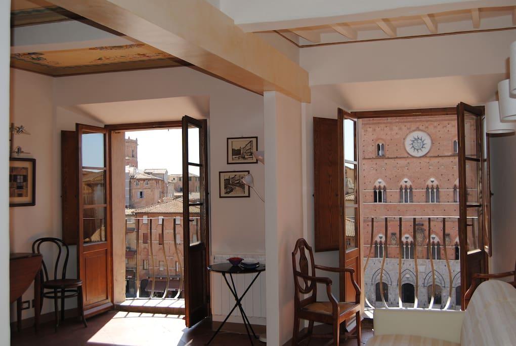 La vista dall'appartamento