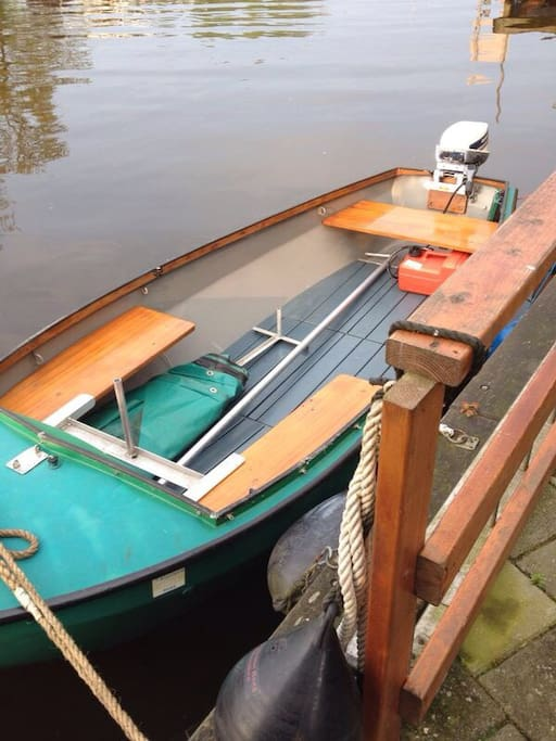 The boat which you may use during you stay. Not from nov-untill approx. april.