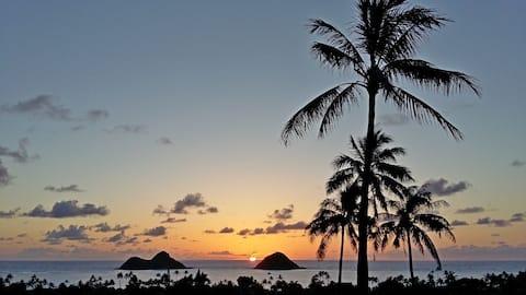 Lanikai (Kailua) 900 sq ft Ocean View Cottage Apt.