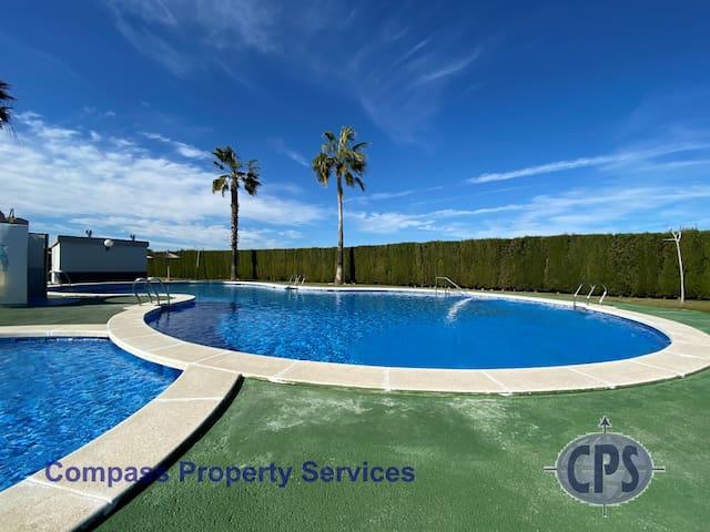 El Chaparrell 1st floor apmt with Comm Pool TV10