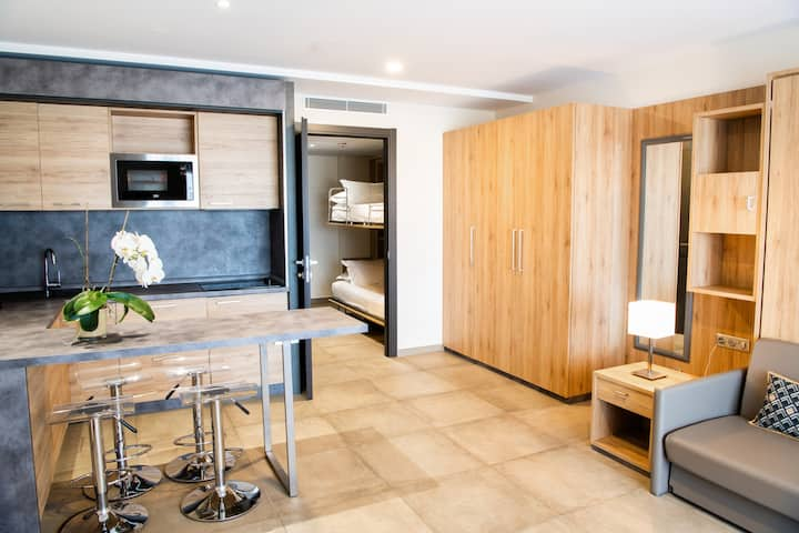 Appartement confort 4 personnes avec balcon