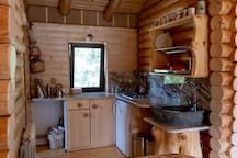 Kitchen - handmade and fully equipped